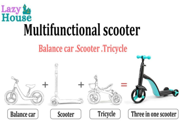 3 in 1 Baby Tricycle Scooter