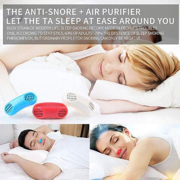 2 in 1 Anti Snoring and Air Purifier Nose Clip