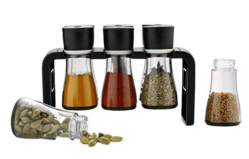 6 Pc Multipurpose Kitchen Spice Rack, Dining Table Spice Jar