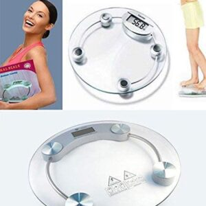 8 Mm Thick Tempered Glass Weighing Scale (White)