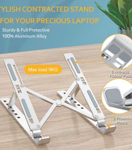 Ergonomic Adjustable Aluminium Laptop Stand
