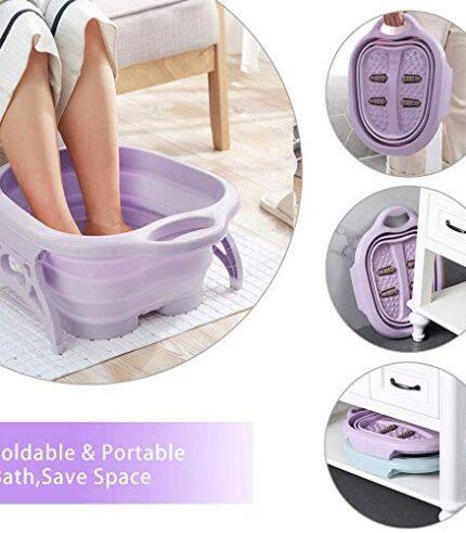 Folding Foot Pedicure Spa Massage Basin