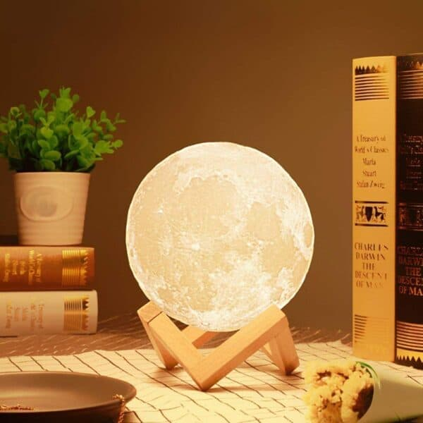 Moon Night Lamp with Stand for Bedroom