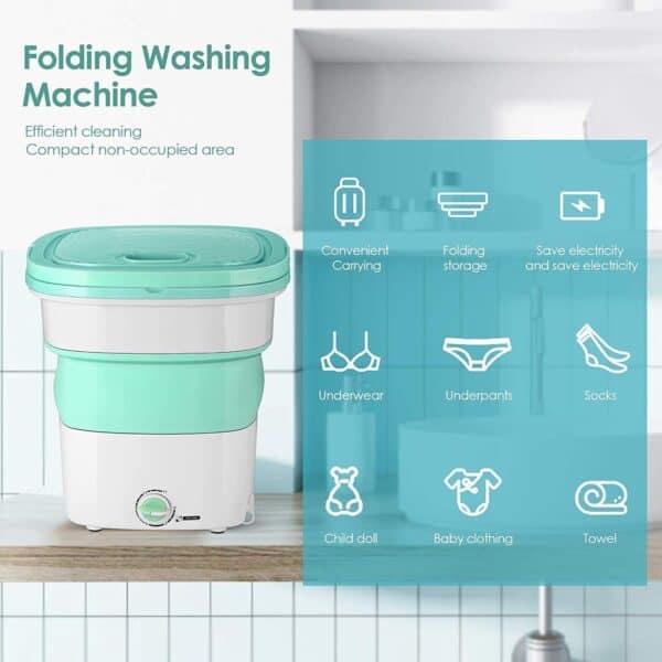 Portable Mini Folding Washing Machine