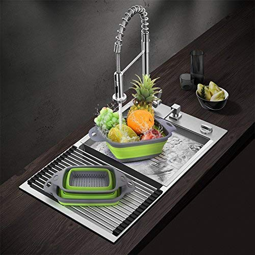 Set of 2 Foldable Fruits Vegetables Washing Bowl Basket