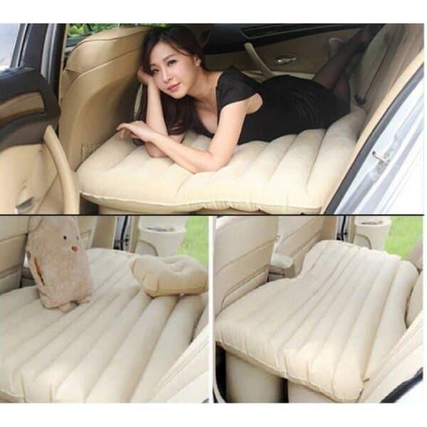 Car Air Mattress Bed with 2 Air Pillows and Pump